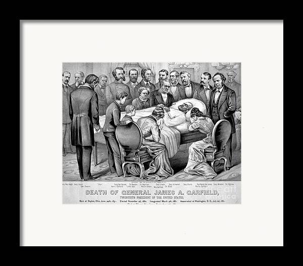 Government Framed Print featuring the photograph Death Of Garfield, 1881 by Photo Researchers