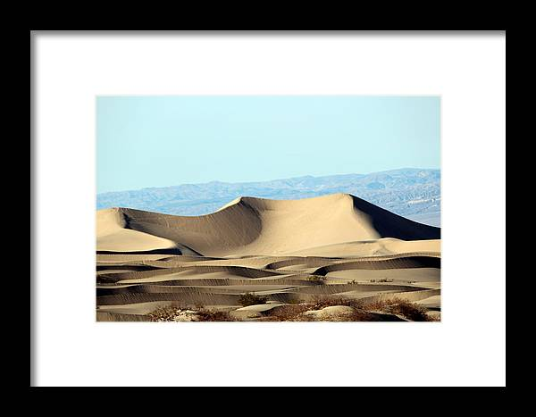Death Valley Framed Print featuring the photograph Death Valley Dunes by Jo Sheehan