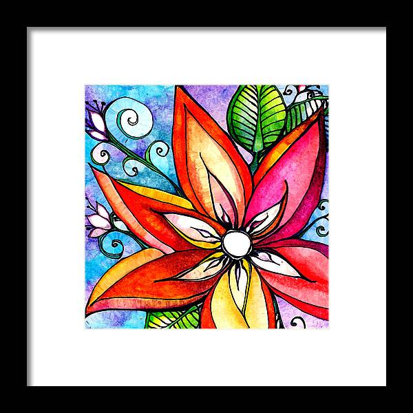 Flower Framed Print featuring the painting Decadence by Robin Mead