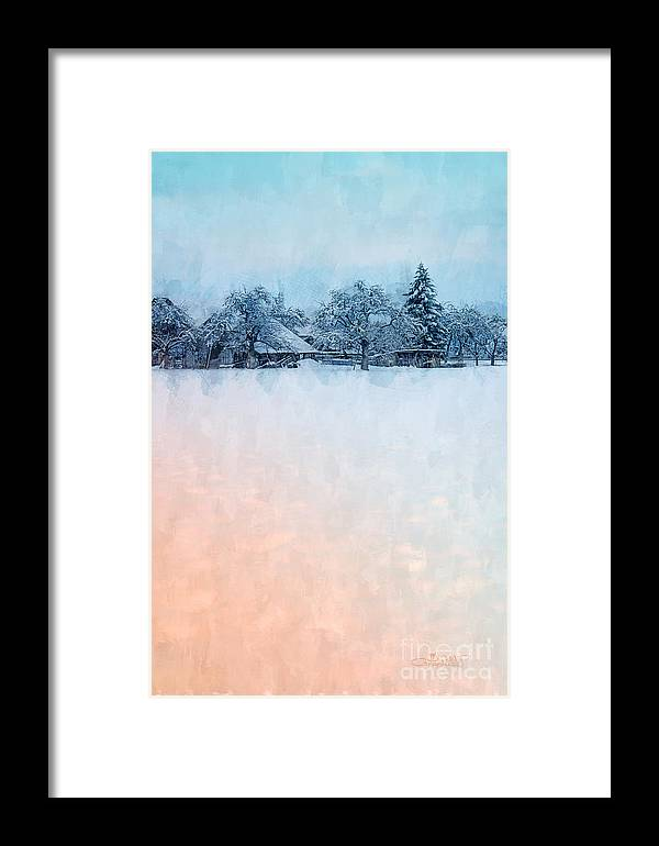 Photo Framed Print featuring the photograph December Snow by Jutta Maria Pusl