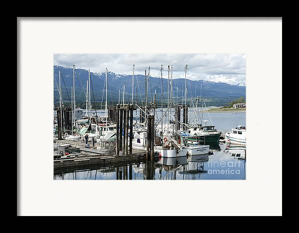 Deep Bay British Columbia Framed Print featuring the photograph Deep Bay Harbor by Artist and Photographer Laura Wrede