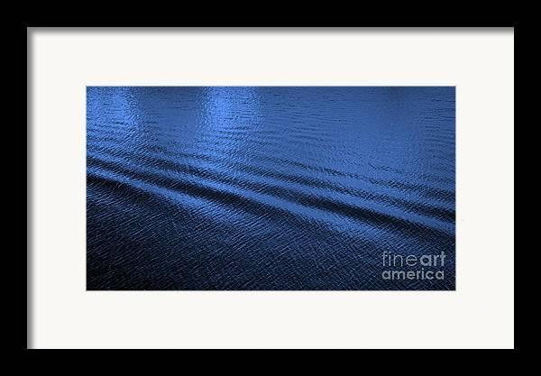 Blue Framed Print featuring the photograph Deep Blue Sea by Carol Groenen