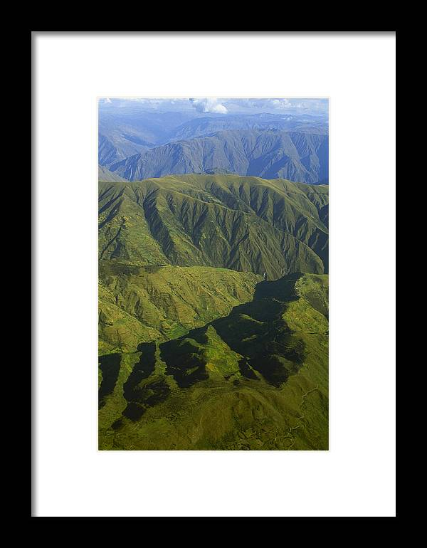 Cordillera Vilcabamba Framed Print featuring the photograph Deep Canyons Drain To Rio Apurimac by Gordon Wiltsie