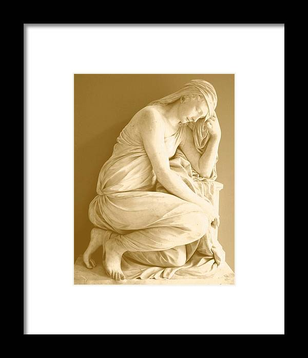 Deep In Thought Framed Print featuring the digital art Deep In Thought by Carrie OBrien Sibley