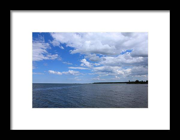 Lake Huron Framed Print featuring the photograph Deep Ocean Vast Sea by Sheryl Burns