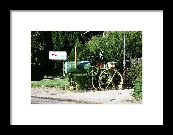 Mailbox Photographs Framed Print featuring the photograph Deere John by Leroy McLaughlin