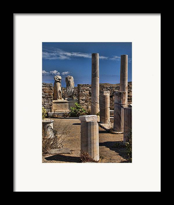 House Of Cleopatra Framed Print featuring the photograph Delos Island by David Smith
