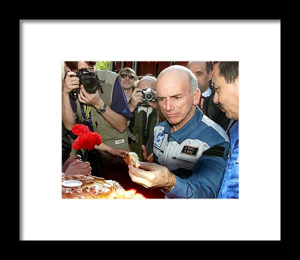 Dennis Tito Framed Print featuring the photograph Dennis Tito, First Space Tourist by Ria Novosti