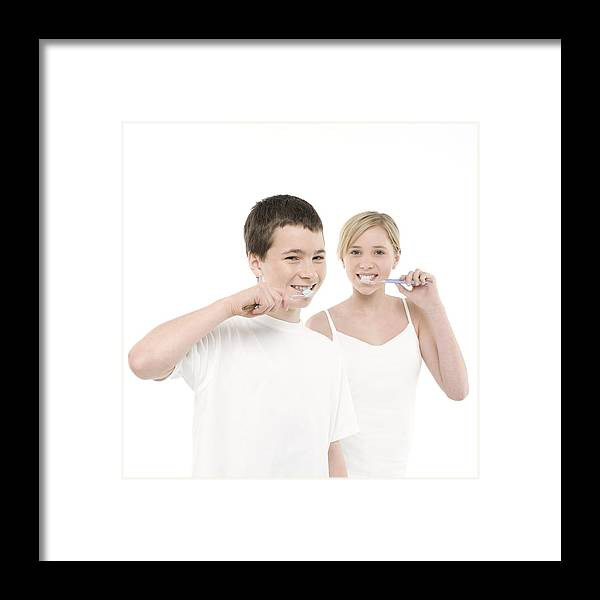 12-13 Years Framed Print featuring the photograph Dental Hygiene by