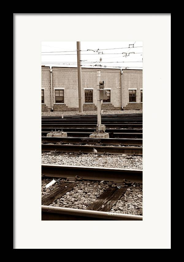Train Framed Print featuring the photograph Depot by Luke Moore