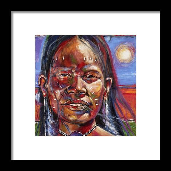 Joe Mueller Framed Print featuring the painting Desert Maiden by Joe Mueller