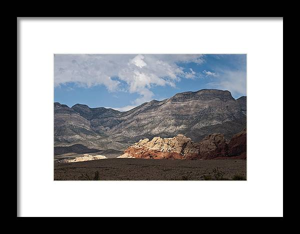 Red Rock Canyon Framed Print featuring the photograph Desert Sunlight by Daniel Milligan