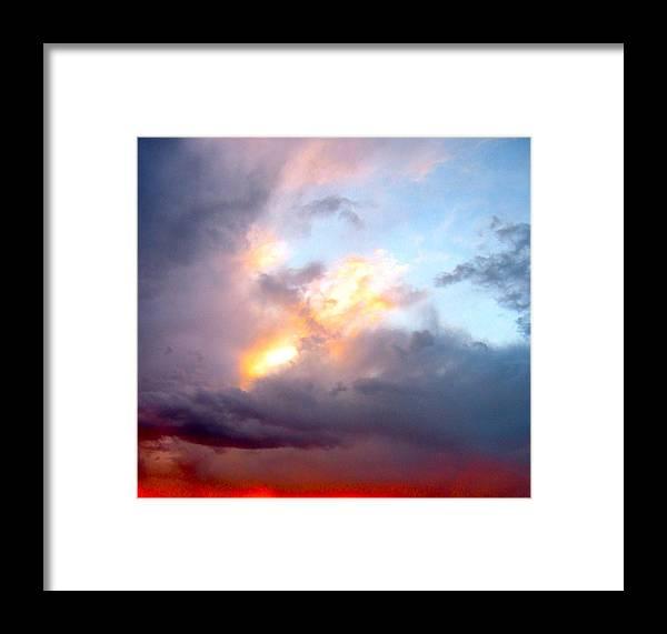 Sunset Photo Framed Print featuring the photograph Desert Sunset by Sarah Gayle Carter
