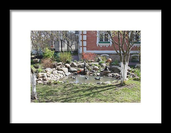 Design Framed Print featuring the photograph Design Of Yard by Evgeny Pisarev
