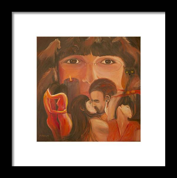 Nude Framed Print featuring the painting Desires by Pamela Ramey Tatum