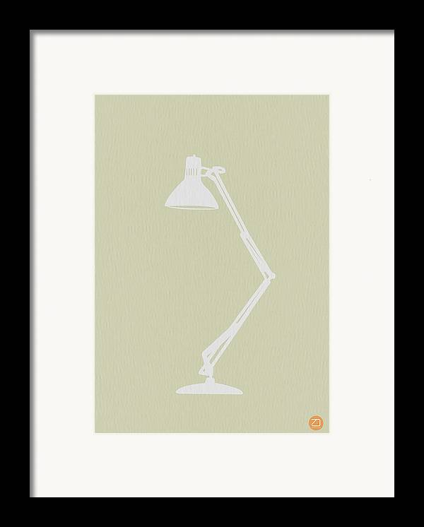 Lamp Framed Print featuring the drawing Desk Lamp by Naxart Studio