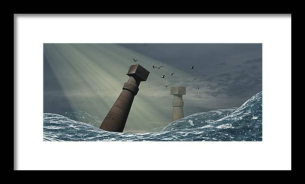 Atlantis Framed Print featuring the photograph Destruction Of Atlantis by Christian Darkin