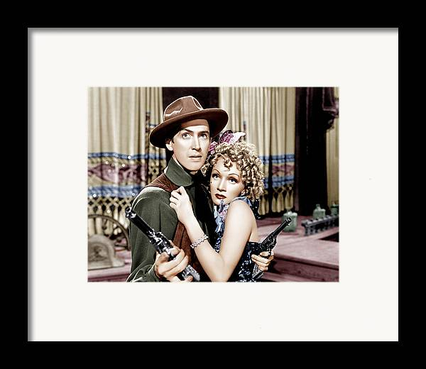 1930s Movies Framed Print featuring the photograph Destry Rides Again, From Left James by Everett
