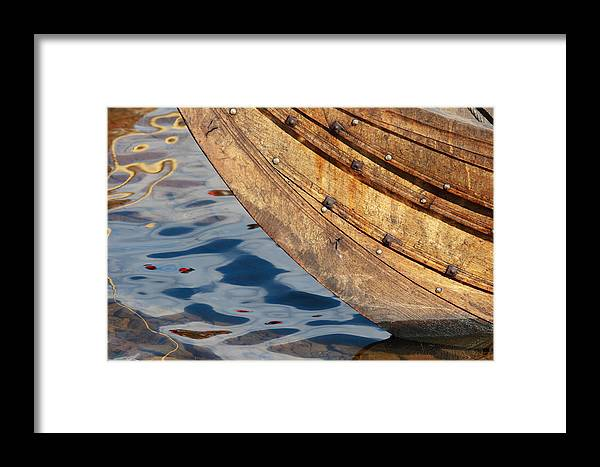 Boat Framed Print featuring the photograph Detail Of The Hull Of A Norrlandsboat by Ulrich Kunst And Bettina Scheidulin