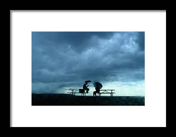 Acadia National Park Framed Print featuring the photograph Determined Park Visitors Sit On Picnic by Raymond Gehman