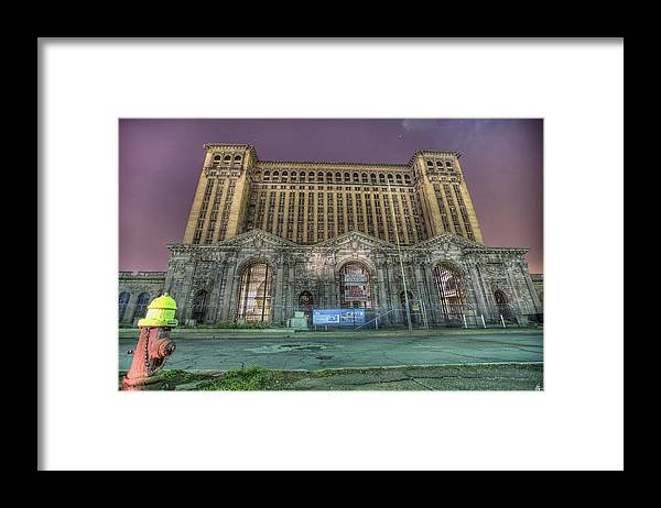 Abandoned Framed Print featuring the photograph Detroit's Michigan Central Station - Michigan Central Depot by Nicholas Grunas