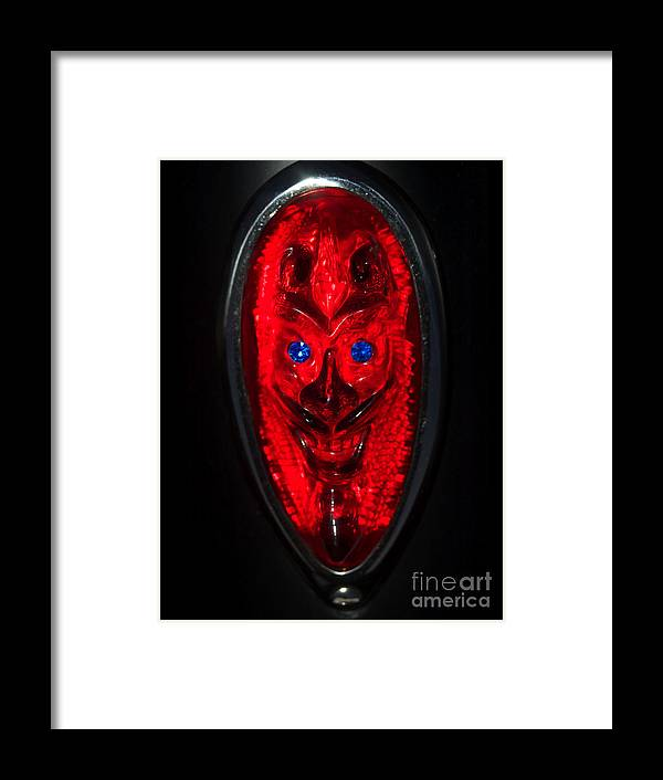 Car Framed Print featuring the photograph Devil With Sapphire Eyes by Tom Luca