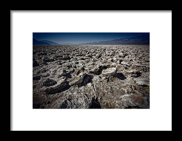 Death Valley Framed Print featuring the photograph Devil's Golf Course by Matt Trimble