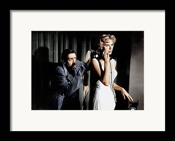 1950s Movies Framed Print featuring the photograph Dial M For Murder, From Left Anthony by Everett