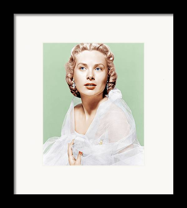 1950s Portraits Framed Print featuring the photograph Dial M For Murder, Grace Kelly, 1954 by Everett