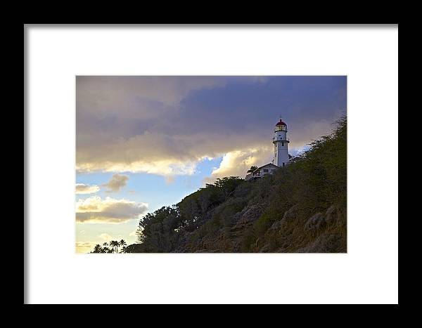 Lighthouse Framed Print featuring the photograph Diamond Head Lighthouse 1 by Eddie Freeman