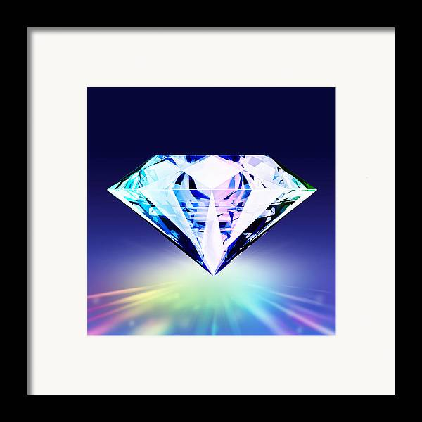Background Framed Print featuring the jewelry Diamond by Setsiri Silapasuwanchai