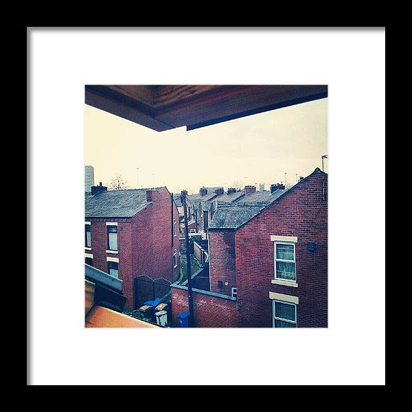 Salford Framed Print featuring the photograph Different Angle! #buildings #houses by Abdelrahman Alawwad