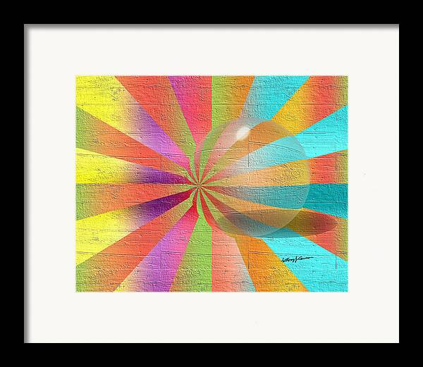 Abstract Framed Print featuring the digital art Digital Art 2 by Anthony Caruso