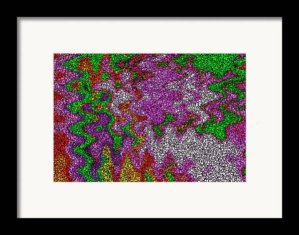 Abstract Digital Boxes Color Colorful Red Orange Green Expressionism Modern Art Framed Print featuring the digital art Digital Boxes by Steve K