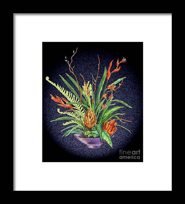 Flower Framed Print featuring the digital art Digital Flowers by Danielle Scott