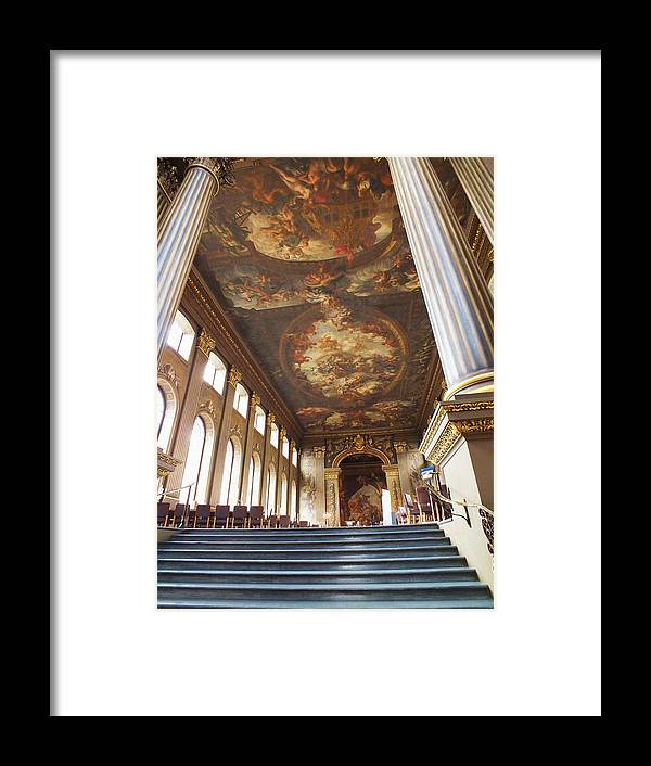 Painted Hall Framed Print featuring the photograph Dining Hall At Royal Naval College by Anna Villarreal Garbis