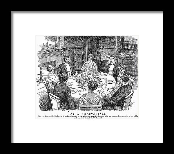1915 Framed Print featuring the photograph Dinner Party, 1915 by Granger