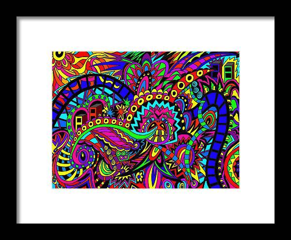 Dipper Framed Print featuring the digital art Dipper Of Life by Karen Elzinga