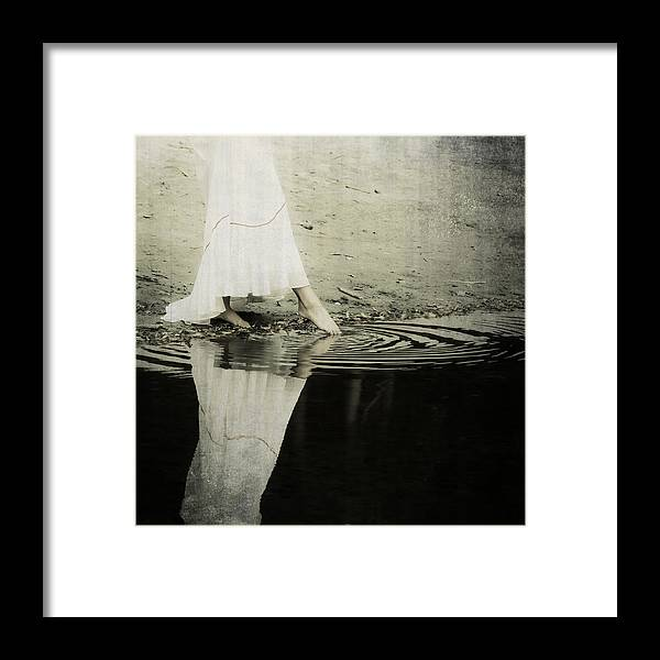 Female Framed Print featuring the photograph Dipping The Foot by Joana Kruse