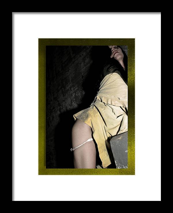 Yellow Framed Print featuring the photograph Disconserting by Swav Jusis