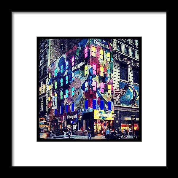 Europe Framed Print featuring the photograph Disigual Night by Randy Lemoine