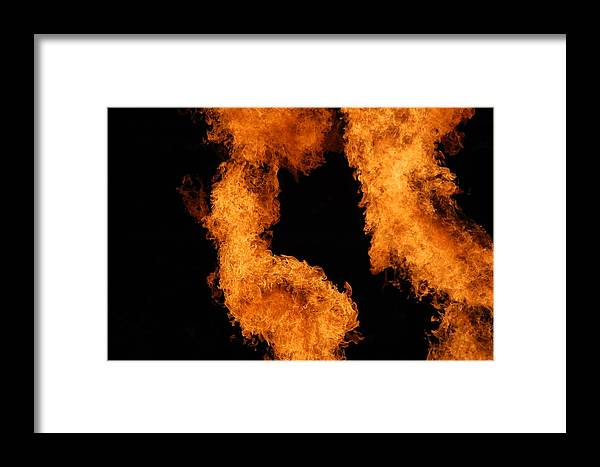 Fire Framed Print featuring the photograph Divine Fire by Michelle Visconti