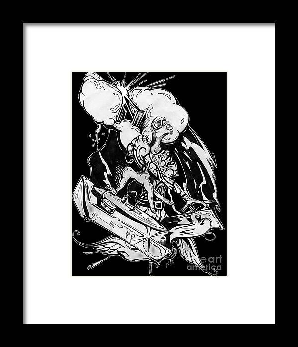 Ston Framed Print featuring the drawing Divine Inspiration by StON Gunn