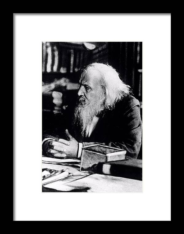 Mendeleyev Framed Print featuring the photograph Dmitry Ivanovich Mendeleyev by Ria Novosti