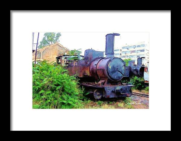Train Framed Print featuring the photograph Do-00504 Train In Mar Mickael by Digital Oil