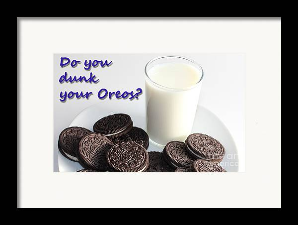 Cookies Framed Print featuring the photograph Do You Dunk Your Oreos by Barbara Griffin