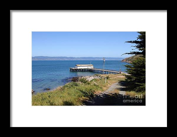 Landscape Framed Print featuring the photograph Dock At Point Reyes Calfornia . 7d16069 by Wingsdomain Art and Photography