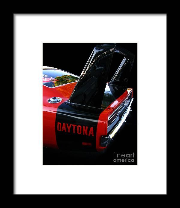 Dodge Daytona Framed Print featuring the photograph Dodge Daytona Fin 02 by Peter Piatt