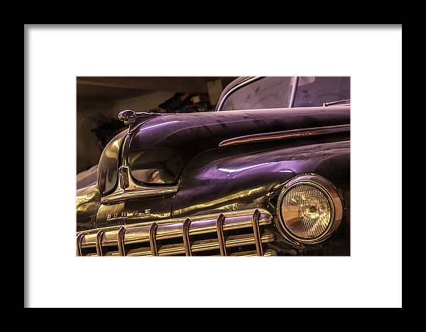 1948 Framed Print featuring the photograph Dodge Hood by Philippe Taka