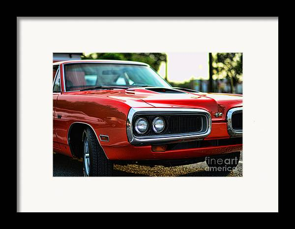 1970 Dodge Super Bee Framed Print featuring the photograph Dodge Super Bee Classic Red by Paul Ward